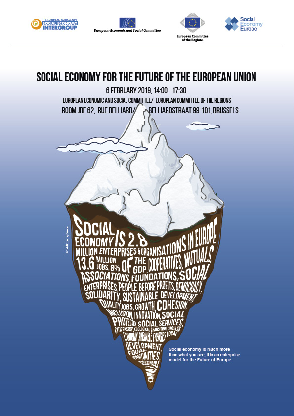 EL 6 DE FEBRERO LA ECONOMÍA SOCIAL EUROPEA SERÁ PROTAGONISTA EN BRUSELAS